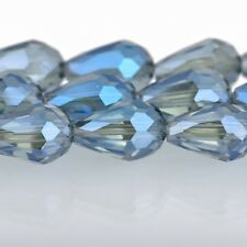 12mm Teardrop Crystal Beads, Faceted MYSTIC BLUE Transparent Glass bgl0358