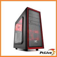 Deepcool Tesseract SW-RD ATX Case Quiet USB 3.0 Red & Black Computer Mid Tower