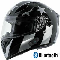 TORC T15 FULL FACE  MOTORCYCLE HELMET BUILT IN BLUETOOTH CAPTAIN SHADOW GLOSS