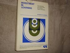 Investment in Learning, by Howard R. Bowen, VG 1st edition