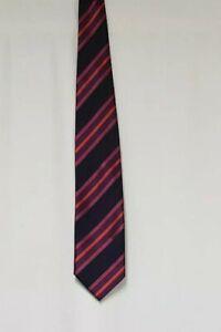 Mens Tie DUNLOP Novelty Tie Black & Red Stripe Tie Mens Neck Tie