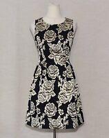 ModCloth Rhythm & Muse Floral Dress Black/Gold A-line Sleeveless Size SMALL