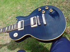 2001 Gibson Les Paul Classic Plus Blue Flametop 1960 60 ABR-1 Slim Neck Standard