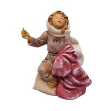 Fontanini Figurine Italy Collectible Samantha 106 Sewing Lady Seamstress Village