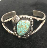 Vintage Navajo Royston Turquoise Sterling silver Cuff Bracelet  Les Baker Shop