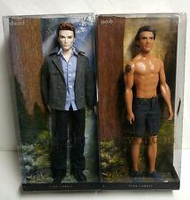 2 Barbie PINK LABEL Collector Dolls TWILIGHT SAGA - EDWARD JACOB *Factory Sealed
