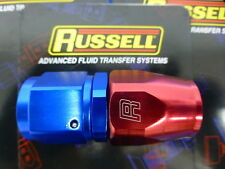 Russell 610040 Hose End Fitting Straight Full Flow AN10 -10 10AN Red Blue Alu
