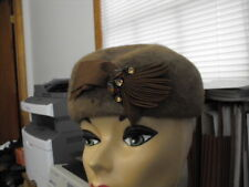 50s/60s Vintage lite Brn Hat made from Beaver