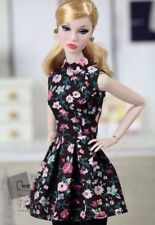 Momoko MMK Doll Outfit Black Floral Dress