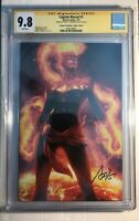 Captain Marvel #1 CGC SS 9.8 Virgin Variant Signed Artgerm HTF Sold out Avengers