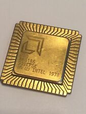 AMD R80186 FLAT PACK GOLD CERAMIC CHIP COLLECTABLE VINTAGE PROCESSOR    fba10a56