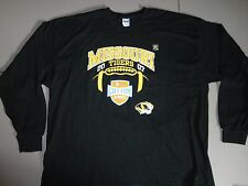 NEW Black Missouri Tigers NCAA 2007-08 Cotton Bowl Classic Winner L/S  tshirt XL