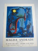 AFFICHE  MAGDA ANDRANDE GALERIE LUCIE WEILL 1959 LITHOGRAPHIE 50X67cm