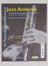 B.B. KING / MICHEL CAMILO : TICKET ORIGINAL !!!! (BARCELONA 1993) SPAIN !!