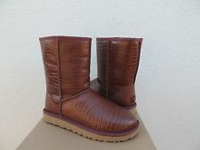 UGG CLASSIC SHORT CROCO TL SPICE LEATHER SHEEPSKIN BOOTS, US 10/ EUR 41 ~NIB