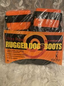 NWT Ultra Paws Rugged Dog Boots XL - Black