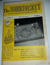 The Workbasket Craft Magazine January 1952