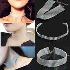 Women's Rhinestone Crystal Diamond Choker Collar Bridal Wedding Necklace Jewelry