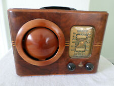 "New ListingRare Emerson Ingraham Cabinet Tube Am ""Cone Face"" Wood Table Radio Model 315"