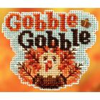 MILL HILL COLORFUL GOBBLE GOBBLE TURKEY  THE AUTUMN HARVEST COLLECTION