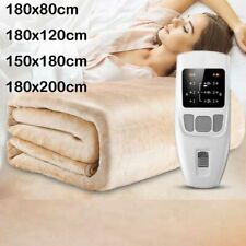 Queen Size Electric Blanket Heated For Bed Dual Single Control Throw Pad Mat
