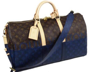 Louis Vuitton Keepall 50 KIM JONES Bag Monogram Sprit Blue M43861 Auth New LV