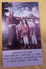Cristobalito, Antonio & Juan Siervos de Dios, Prayer Card/Estampa en  Español
