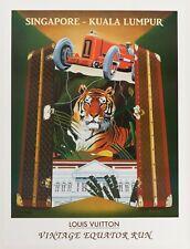 Original Louis Vuitton Poster - Razzia - Equator Run Singapore Kuala Lumpur 1993