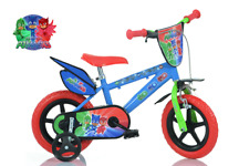 "Bicicletta PJ Masks Super pigiamini 14"" con rotelle Dino Bikes Made in Italy"