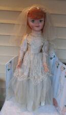 "Vintage 1960s Uneeda Large Playpal 29"" Doll pollyanna orange/red hair bride"