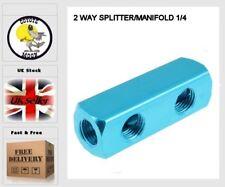 2 WAY SPLITTER MANIFOLD 1/4 pneumatic, compressor Air Line Fitting