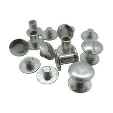 50 Stück - Buchschrauben silber / vernickelt (Ø Kopf: 10 mm, Ø Schaft: 5 mm)