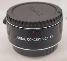 Digital Concepts 2x Auto Focus Tele-Converter Canon EF EOS DSLR Cameras/Lenses