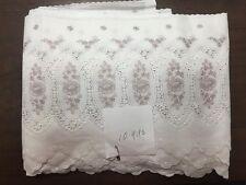 Vintage Swiss Double Scallop Edge Entredeux Border 100% Cotton 10 Yards