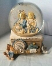 """San Francisco Music Box Co. Heart Tug """"Somewhere Out There"""" Musical Snow Globe"""