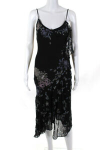 Karen Millen  Womens Embroidered Beaded Dress Black Size 8