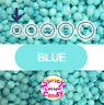 """Large Box 8"""" x 7"""" x 3"""" - Marshmallow Foam Beads For Slime - Blue"""