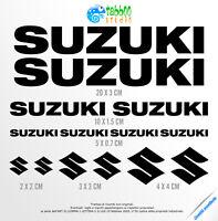 14 Adesivi SUZUKI kit logo stickers GSX BURGMAN V-STROM SV moto ricambi