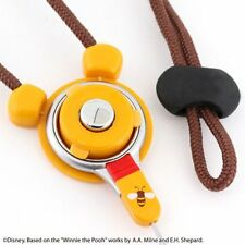 Disney Hand linker iPhone Cell Phone Safety Neckstrap Ring Holder Pooh Japan
