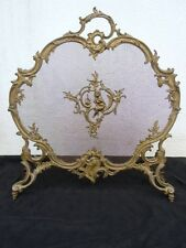 Pare étincelles putti bronze doré Charles Casier époque Napoléon III 19ème