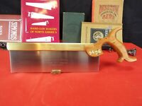 "Raub's Saw Works, 10"" Brass Back 15 PPI Cross Cut, Tenon Hand Saw, Hand Made,"