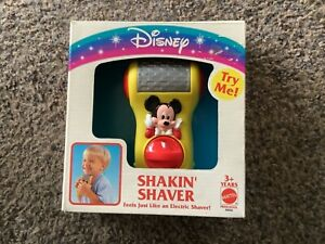 Vintage Mickey Mouse Toy Shaver Razor Disney Wind-up Mint in Box