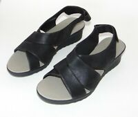 CLARKS Cloudstepper Caddell Bright Black Wedge sz 9 M