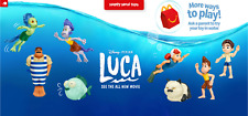 2021 McDONALD'S Disney's Luca Pixar HAPPY MEAL TOYS Or Set