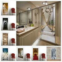 3D Door Wall Fridge Sticker Wrap Mural Scenery Self Adhesive Home Decor Decal