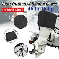 Engine Boat Cover Outboard Motor Cover 210D Black 45 to 75 HP 63x35x50cm