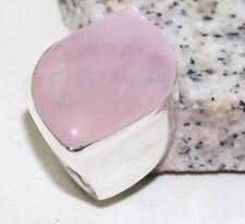 Rose Quartz Handmade Ladies Statement Ring Size-9.25