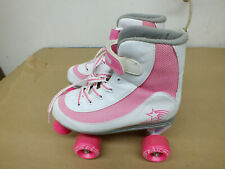 Fire Star Roller Derby  Youth Girl's Roller Skate Size 4 White/Pink