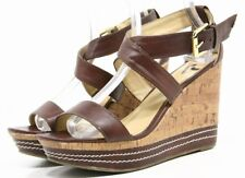 REPORT SHANGHAI Womens Sandals size 9.5 Cork Platform Wedge heels Ankle Straps