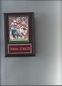 JAMAAL CHARLES PLAQUE KANSAS CITY CHIEFS KC FOOTBALL NFL